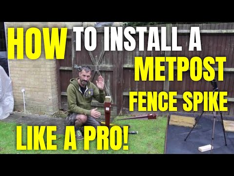 How To Install A METPOST/Fence Spike Like A Pro!