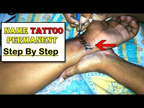 How To Make   Permanent Name   Tattoo Design   Step By Step