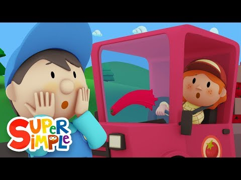 Betty's Tomato Truck goes through the car wash | Cartoon for kids