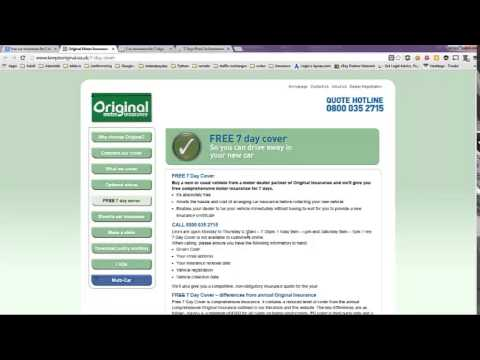 Free Auto Insurance for 7 Days - YouTube