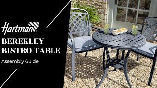Berekley Bistro Table - Assembly Guide