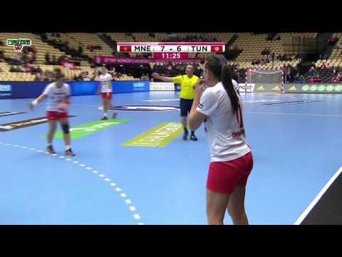 Montenegro VS Tunesia 22nd IHF Women's Handball Championship 2015 Preliminary round