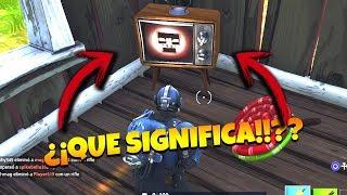 ALGO ESTA PASANDO EN FORTNITE MENSAJE DE TELEVISION ¡ALARMA!