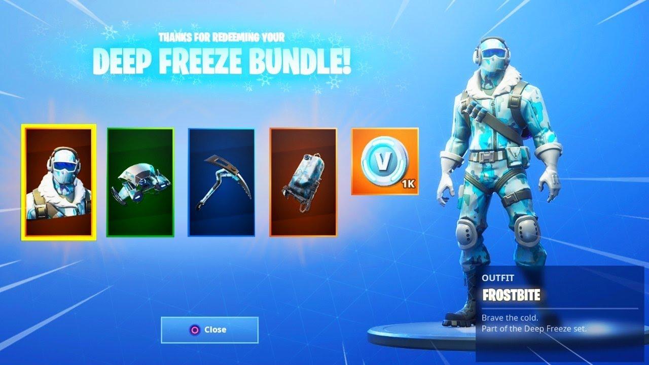 new deep freeze bundle rewards new fortnite deep freeze skin - fortnite deep freeze bundle pc