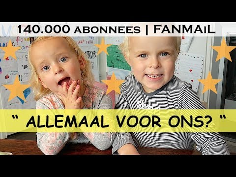 VEEL TE VEEL POST !!! | 140.000 ABONNEES! | Bellinga Family Fanmail Vlog #11