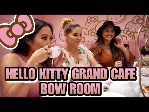 Hello Kitty Grand Cafe Bow Room Tour & Vlog! - Hello Kitty Bow Room Review & Vlog - Irvine Spectrum