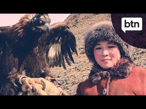 A Khazakh Eagle Huntress - Behind The News