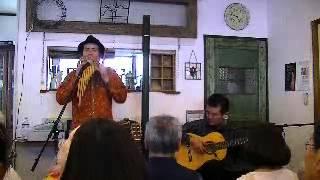 2012.06.10 岡田浩安&智詠ライブ 松山うちカフェ Mikeにて.