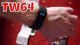 unboxing review of tw64 bluetooth smart wristband fitbit clone health tracker watch subscribe