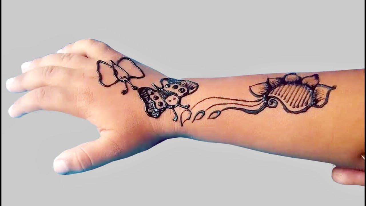 Henna Tattoo Butterfly Designs Cute And Easy Butterfly Henna