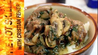 How to cook beef tongue in mushroom sauce