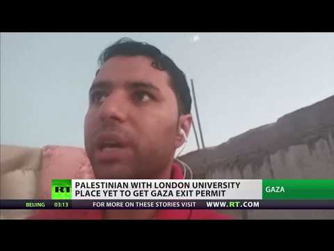 Mohammed Awad: Palestinian student hoping to place up UK university place