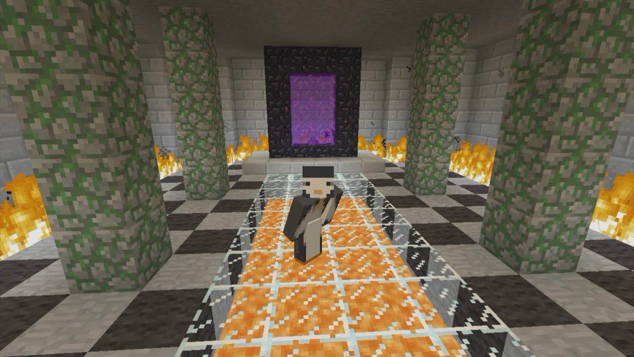 Minecraft Xbox Nether Portal Room 48 Youtube