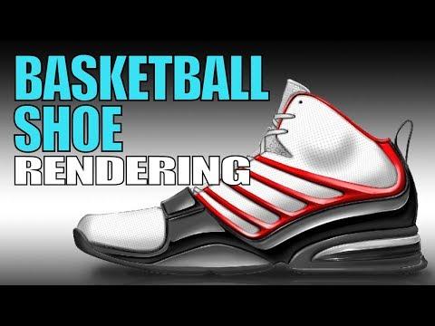 Basketball Shoe Rendering - Render Demo