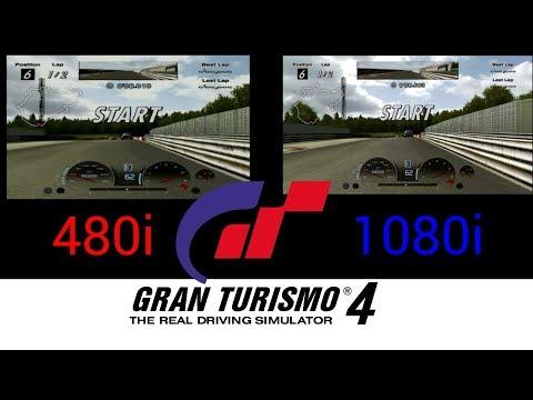 Gran Turismo 4 Comparison (480i vs 1080i)