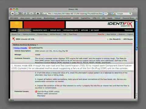 Identifix: Lincoln LS - ETC-Engine Fail Safe Mode