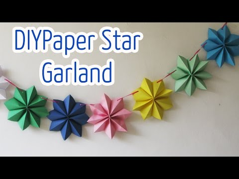 Diy crafts : Paper stars garland - Ana | DIY Crafts