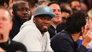 50 cent in courtside fight at knicks game