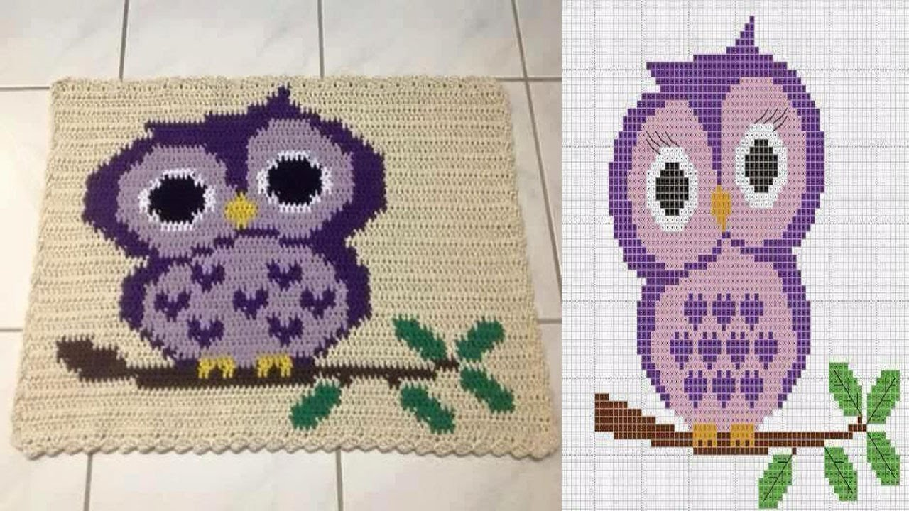 Patrones alfombras tejidas en crochet youtube for Tejidos de alfombras