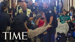 GOP Health Care Bill: Protesters Removed From Hallway In Front Of Mitch McConnell's Office | TIME