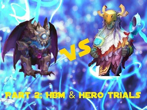Castle Clash; Druid Vs Ghoulem Part 2 - HBM And Hero Trials!