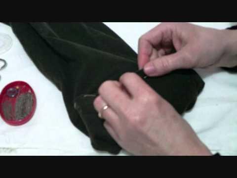 Come Accorciare Lorlo Ad Un Pantalone Tutorial Youtube