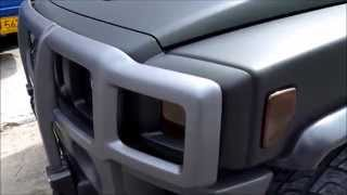 AutoPlast BodyWorX! Forrado NEGRO MATE HUMMER H3