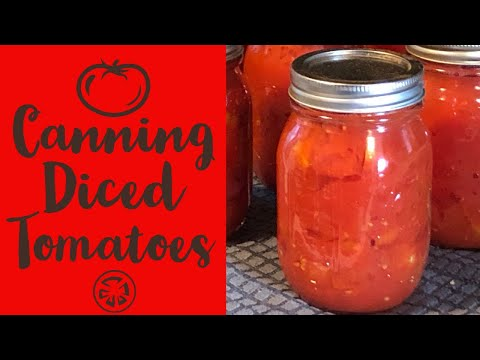 Canning Diced Tomatoes ~ ReCanning #10 Cans