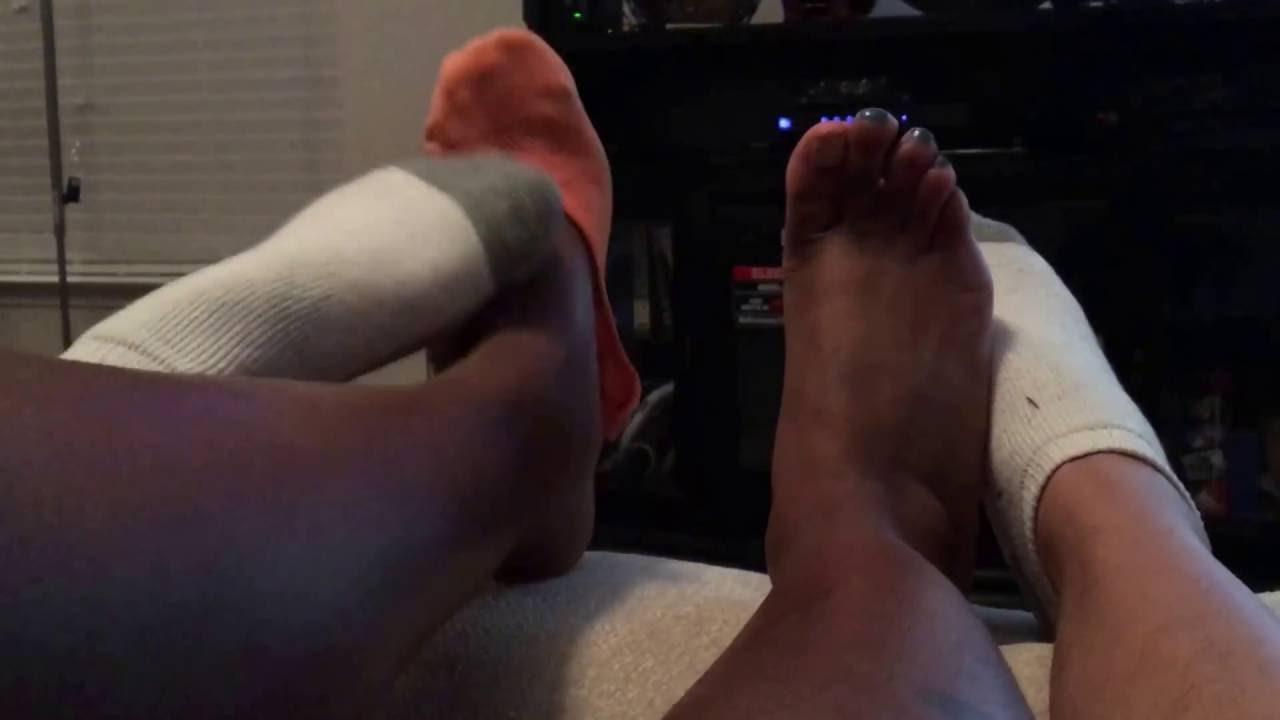 Lesbian nylon footsies