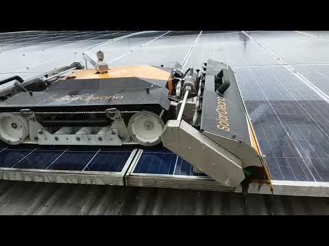 VOLTANET - CLEANING DIRTY SOLAR PANELS WITH ROBOT
