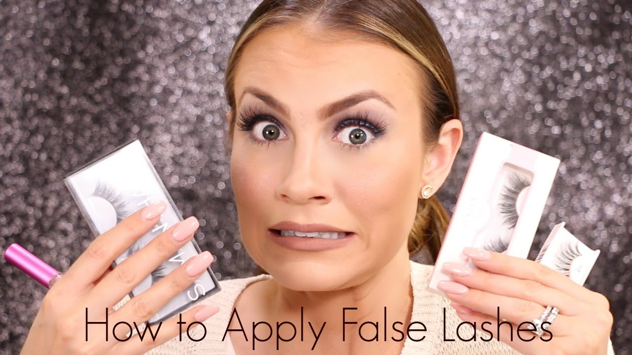 b2af78a983c How To Apply False Lashes | Tutorial for Beginners - YouTube