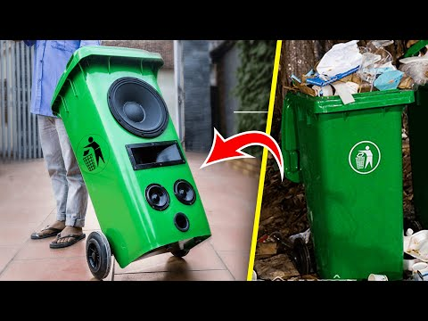 Recycle Garbage Can Into Pull Rod Speaker
