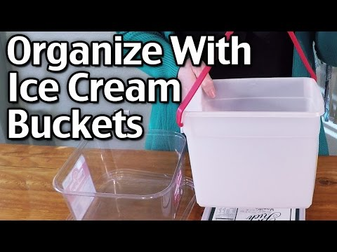 More Ways To Organize With Ice Cream Buckets<a href='/yt-w/05ePx_YCVcs/more-ways-to-organize-with-ice-cream-buckets.html' target='_blank' title='Play' onclick='reloadPage();'>   <span class='button' style='color: #fff'> Watch Video</a></span>