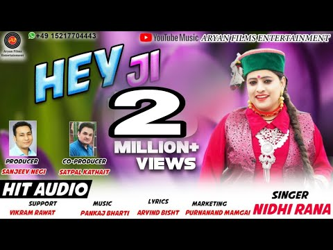 NEW GARHWALI SONG Hey ji//Singer-Nidhi Rana//Aryan Films Entertainment