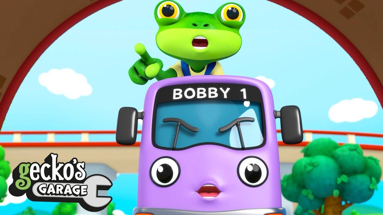 Save Gecko from falling off Bobby! | Gecko's Garage | Trucks For Children | Cartoons For Kids