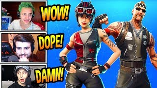 STREAMERS REACT TO *NEW* CHOPPER & BACKBONE SKINS! *RARE* Fortnite SAVAGE & FUNNY Moments