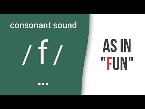 Pronunciation of Fricative Consonant Sounds