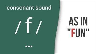 Consonant Sound / f / as in