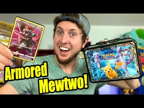 ARMORED MEWTWO POKEMON CARD In The New Collectors Chest Tin Opening!