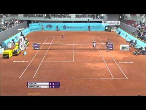 Laura Robson vs Agnieszka Radwanska 2013 Madrid Highlights