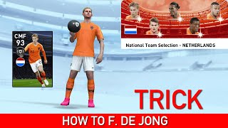 HOW TO GET DE JONG FROM NETHERLANDS TEAM SELECTION | PES 2020 MOBILE