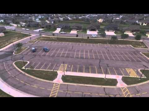 Sioux Falls Police aerial drone assist for children on roof