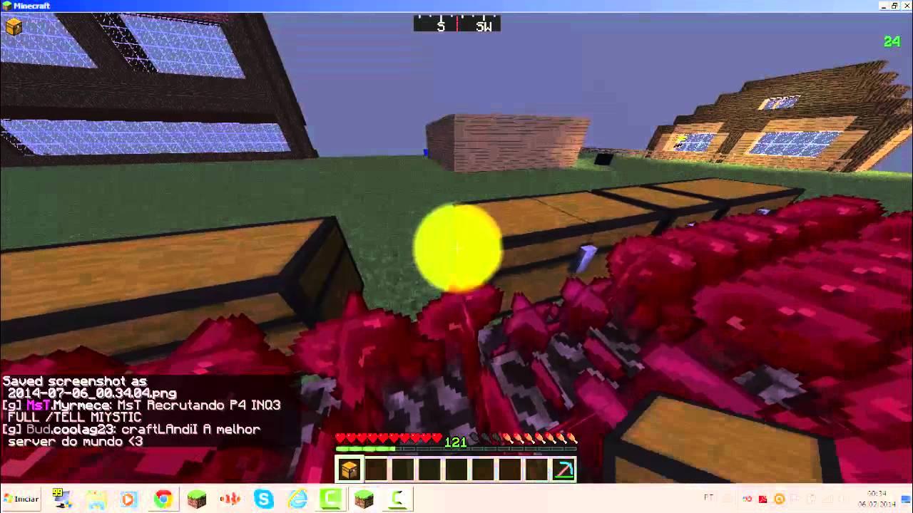 Minecraft 1.5.2 Macro Planta-colhe-guarda Bau