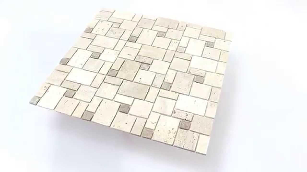 Selbstklebende Travertin Naturstein Mosaik Beige YouTube - Selbstklebende mosaik fliesen verfugen