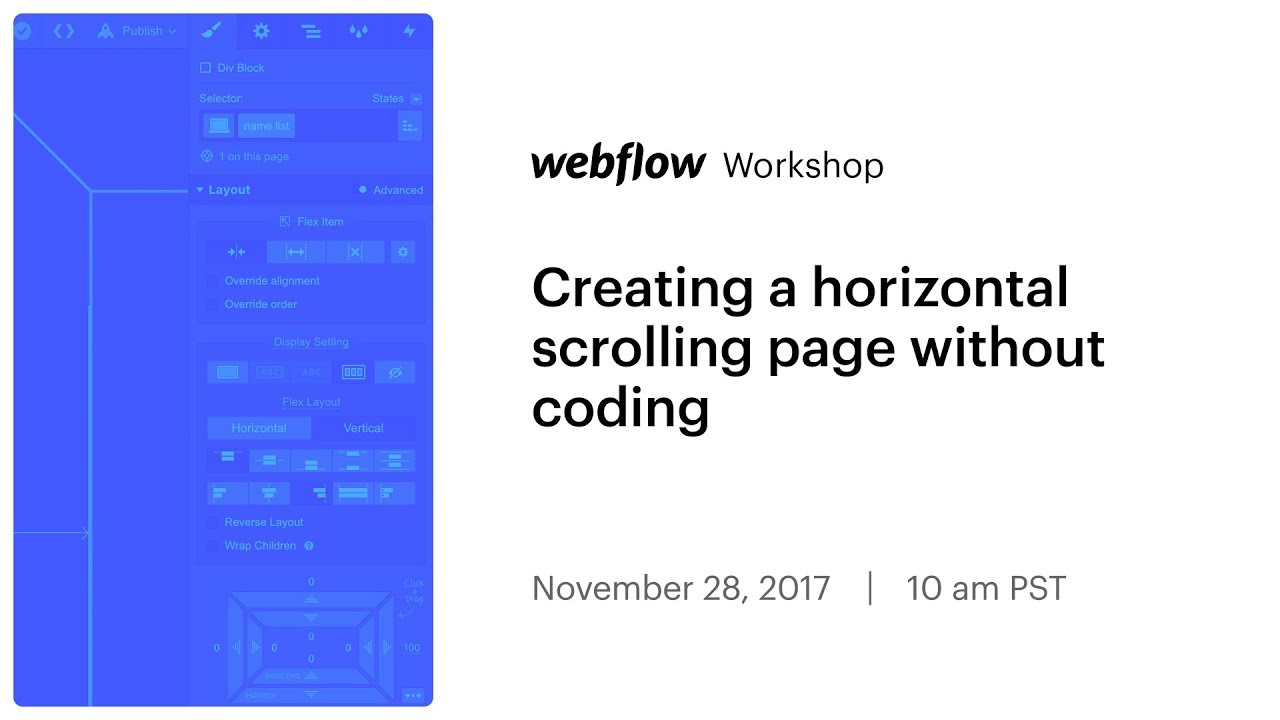 Creating a horizontal scrolling page without coding - YouTube