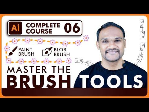 Adobe Illustrator Tutorial Paint Brush U0026 Blob Brush Tool CC 2020 Easy Guide For Beginners Hindi