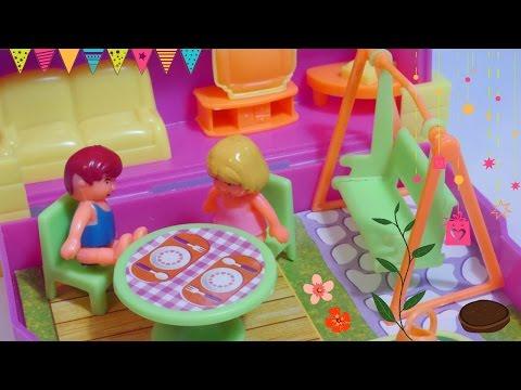 لعبة البيت - ألعاب بنات بيت كامل داخل صندوق صغير!! Full Doll house inside a box