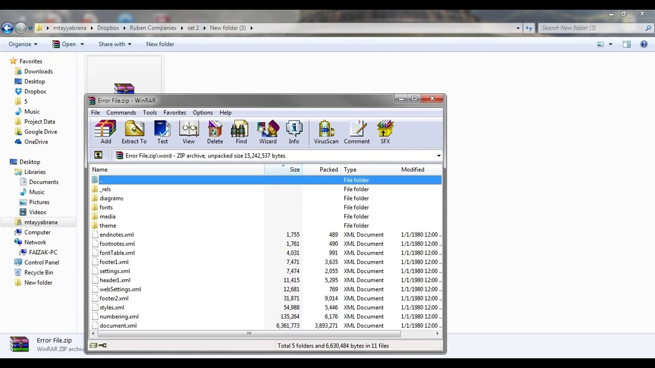 Solved Xml Parsing Error In Microsoft Word File Corrupted File