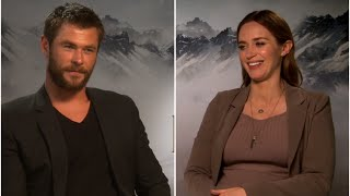 Chris Hemsworth And Emily Blunt Have Huntsman Inspired Fun