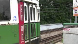 HD MBTA Green Line Riverside Station
